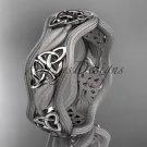 platinum  celtic trinity knot wedding band, engagement ring CT7510GM