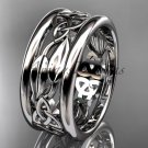 14kt white gold celtic trinity knot wedding band, engagement ring CT7511G