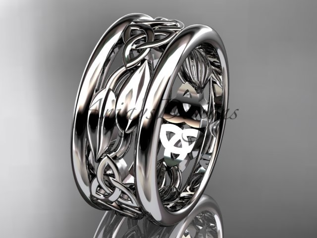 platinum  celtic trinity knot wedding band, engagement ring CT7511G