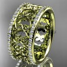 14kt yellow gold diamond engagement ring, wedding band ADLR423B