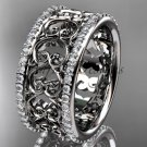 platinum  diamond engagement ring, wedding band ADLR423B