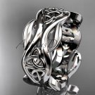 14kt white gold celtic trinity knot wedding band, engagement ring CT7264G