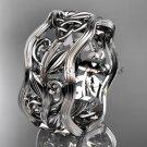 Platinum celtic trinity knot wedding band, engagement ring CT7263G