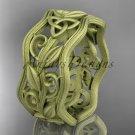 14k yellow gold celtic trinity knot wedding band, matte finish wedding band, engagement ring CT7263G