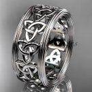 Platinum  celtic trinity knot wedding band, engagement ring CT7513G