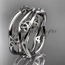 Platinum  celtic trinity knot wedding band, engagement ring CT7350G