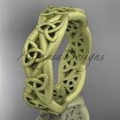 14kt yellow gold celtic trinity knot, matte finish triquetra ring, engagement ring CT7392G