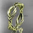 14k yellow gold rope wedding band RP898G