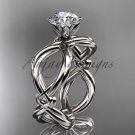 14kt white gold twisted rope wedding ring RP8192