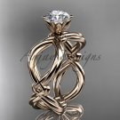 14kt rose gold twisted rope wedding ring RP8192