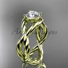 14kt yellow gold twisted rope engagement ring RP8181
