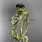 14kt yellow gold rope celtic Black Diamond engagement rings RPCT970