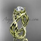 14kt yellow gold celtic rope engagement ring RPCT9181