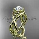 14kt yellow gold rope celtic forever one moissanite engagement ring RPCT9181