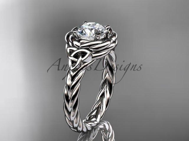 14kt white gold celtic nautical engagement ring RPCT9201
