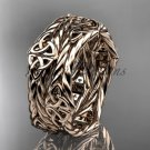 14k rose gold rope celtic trinity knot wedding band RPCT9357G