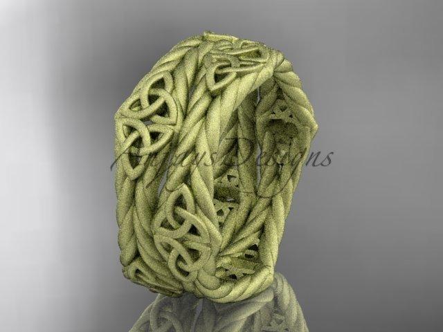 14k yellow gold matte finish rope celtic wedding band RPCT9357G