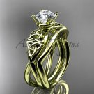 14kt yellow gold celtic trinity knot engagement set CT770S