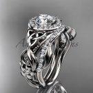Celtic Wedding Ring Sets platinum Diamond Celtic Trinity Knot Bridal Set CT7300S