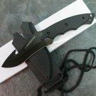 """7"""" BLACK SKINNER KNIFE WITH SHEATH  Sku : 1791-BK"""