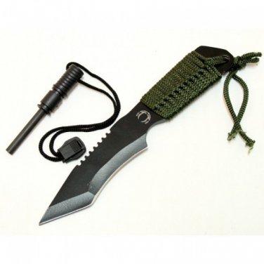 "7"" HUNTING KNIFE CARBON STEEL BLADE STRING WRAPPED HANDLE Sku : 5736"