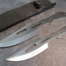"7"" & 6"" SILVER  KNIVES WITH SHEATH"