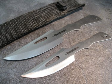 """7"""" & 6"""" SILVER  KNIVES WITH SHEATH"""
