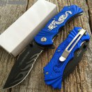 "8"" DEFENDER KNIFE WITH SERRATED STAINLESS STEEL BLADE - BLUE Sku : 7960"