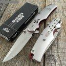 "7.5"" SILVER EAGLE  FOLDING KNIFE WITH BELT CLIP Sku : 7654"