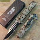 "8.5"" ZOMBIE WAR CAMO DESIGN  KNIFE WITH BELT CLIP & GLASS BREAKER Sku : 7670 Code-Keke Cooper"