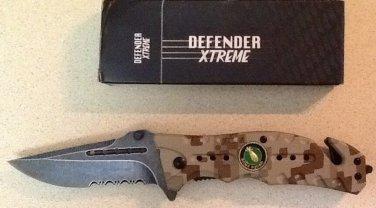 "8"" CAMOUFLAGE FOLDING KNIFE WITH BELT CLIP Sku : 7347"