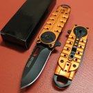 "Orange 6 1/4"" Mini Folding  Knife with Clip SKU:6076"