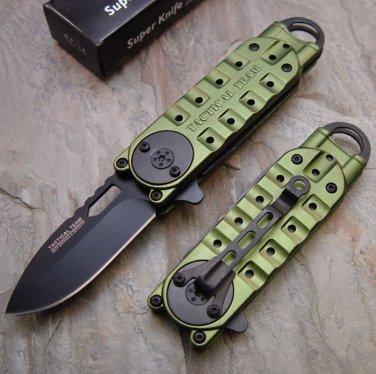 "Green 6 1/4"" Mini Folding  with Clip SKU:6080"