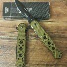 "7.5"" BROWN FOLDING  KNIFE STAINLESS STEEL Sku : 7682"
