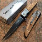 """8"""" Carbon steel wood handle  Knife SKU:5242"""