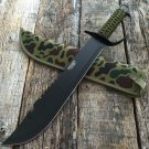 "19"" BLACK MACHETE HUNTING SWORD    Sku : 6740"