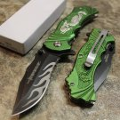 "8"" Defender Knife with Serrated Stainless Steel Blade - Green SKU:7956"