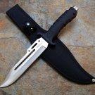 "10.5"" Hunting Knife Black Handle and Black Sheath SKU:6418"