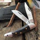 "5"" HAND MADE BLACK HORN HANDLE FOLDING KNIFE Sku : 9233"