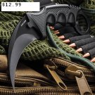 "7.5"" Hunt-Down Karambit Black Hunting Knife with Sheath and Belt Clip SKU:9580"