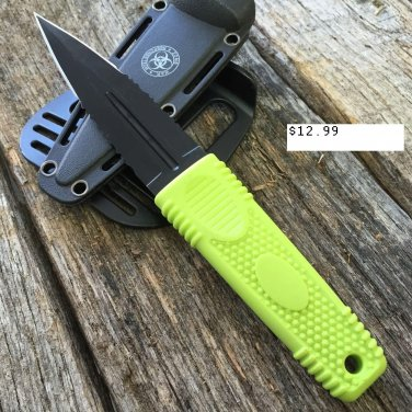 "7.75"" Zomb-War Green Boot Hunting Knife with Sheath SKU:8164"