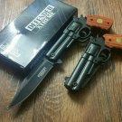 """8.5"""" Defender Xtreme Black/Rosewood Spring  Gun Knife with Belt Clip SKU:9244"""