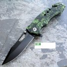"8"" Green Viper Handle  Knife and Belt Cutter SKU:9069"