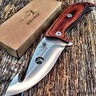 "Elk Ridge 9.25"" Stainless Steel Knife Tactical Survival Wood Handle SKU:ER-A156HBW"