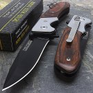 "7"" TAC FORCE  WOOD FOLDING POCKET KNIFE Blade Tactical unlimited wares"