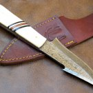 "9"" The Bone Edge Full Tang D Knife with Bone Handle Code-Helen Mckinzie"