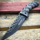 Tac Force Spring Assisted Stonewashed Chains Handle Collector knife