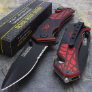 "7.5"" TAC FORCE SPIDER SPRING ASSISTED TACTICAL FOLDING KNIFE"