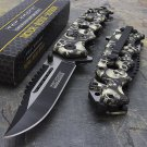 "8.25"" GREY SKULLS SPRING ASSISTED TACTICAL Code-  Matt Eno Williams"
