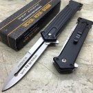 """TAC-FORCE Black and Silver """"why so serious"""" Joker's Tactical Pocket Knife"""